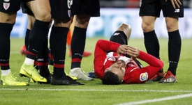 El delantero se lesionó en Copa del Rey. EFE