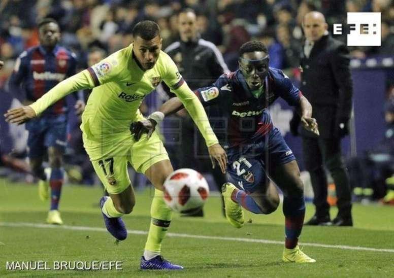 Murillo fue titular ante el Levante. EFE/Manuel Bruque
