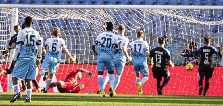 Immobile volvió a ser el goleador de la Lazio. EFE