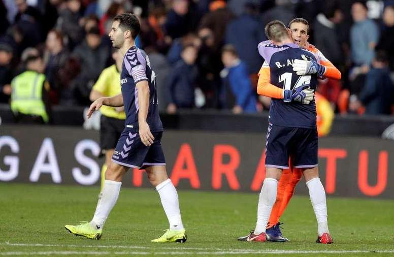 El Valladolid volvió a dejar la meta a cero. EFE