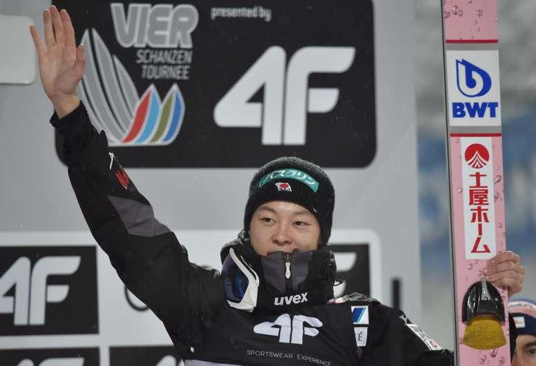 El japonés Ryoyu Kobayashi celebra uno de sus triunfos. EFE/EPA/Archivo