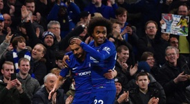 Pedro and Willian both netted for Chelsea. EFE