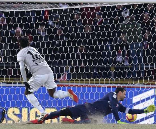 Kean ha messo la partita in sicurezza. AFP