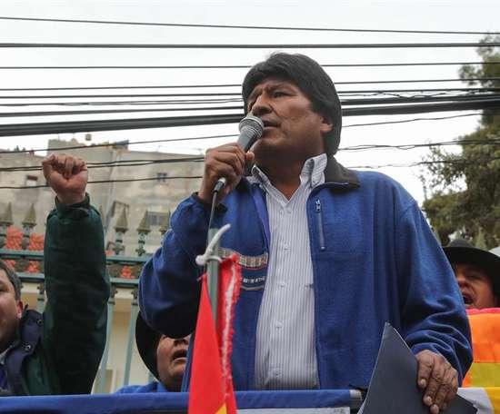 El presidente de Bolivia se acordó de Maradona. EFE