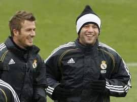 David Beckham e Antonio Cassano dividiram vestiário no Real Madrid. EFE/Arquivo