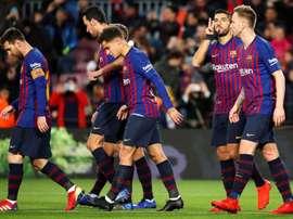 Les compos probables du match de Liga entre Eibar et le FC Barcelone. EFE