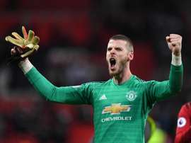 David De Gea is willing to see out his contract with United. EFE