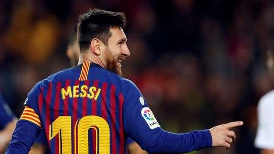 Leo Messi foi convocado para o jogo contra o Levante. EFE