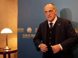 Tebas habló de Cristiano, Neymar o Mbappé, entre otros. EFE