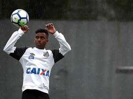 Rodrygo jogador do Santos. EFE