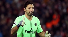 Buffon, guarda-redes do PSG. AFP