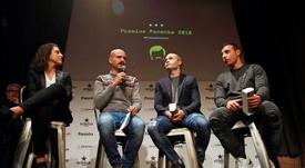 Iniesta, Cazorla y Vero Boquete, los premiados. EFE