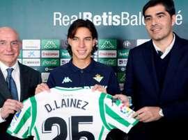 Lainez podría debutar ante el Girona. EFE