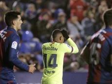 El Levante quiere hacer valer el resultado de la ida ante el experto Barça. EFE