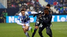 Sabin Merino no ha disfrutado de muchos minutos en el Leganés. EFE