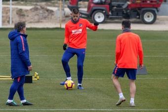 Montero, con un pie y medio fuera del Atlético de Madrid. EFE