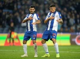Soares foi o autor do segundo golo do FC Porto. EFE