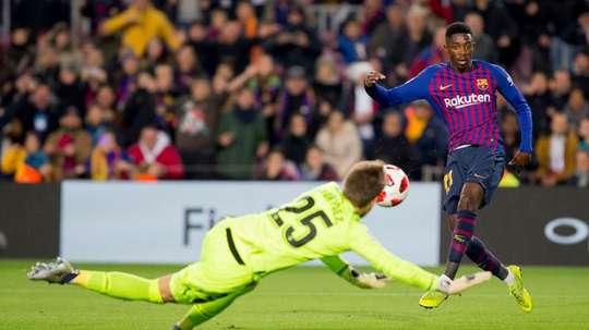 Ousmane Dembele scored twice in an impressive personal display.