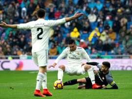 El Sevilla, derrotado en el Bernabéu. EFE