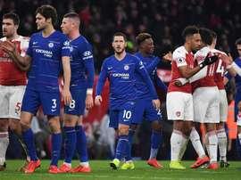 Ni Arsenal ni Chelsea tuvieron ingleses en sus onces. EFE/EPA