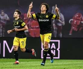 Axel Witsel dio el triunfo al Borussia en Leipzig. EFE/EPA