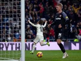 El Madrid se impuso al Sevilla a primera hora de la tarde. EFE