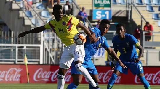 Tablas entre Colombia y Brasil. EFE