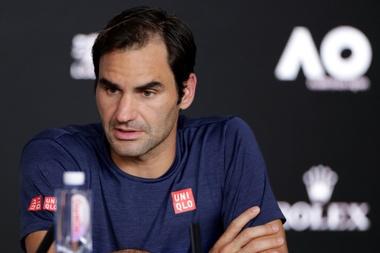 Roger Federer durante la rueda de prensa. EFE