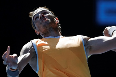 El español Rafael Nadal volvió a mostrarse impecable en su victoria en Melbourne, Australia. EFE/EPA
