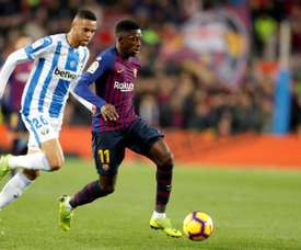 Ousmane Dembele put in another impressive performance, but was injured in the second half. EFE