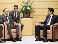 Iniesta, nueva imagen de Japón. EFE/Jiji Press
