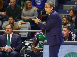El entrenador del Unicaja Luis Casimiro. EFE/Archivo