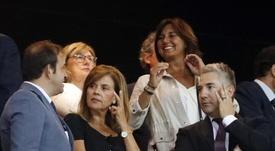 La presidenta del Leganés analizó el Barça-Leganés. EFE