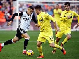 El Villarreal se crece últimamente en Mestalla. EFE