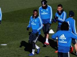 O Real treinou com os olhos postos no próximo jogo da Liga. EFE