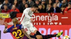 El Barça no vio puerta ante el Sevilla. EFE / Raúl Caro Cadenas