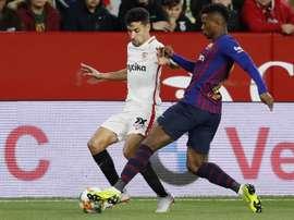 Navas cayó lesionado ante el Barça. EFE
