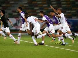 Catar se medirá a sus vecinos de Emiratos Árabes en las semifinales. EFE