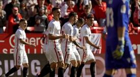 El Sevilla metió los cinco goles en la segunda mitad. EFE/Archivo