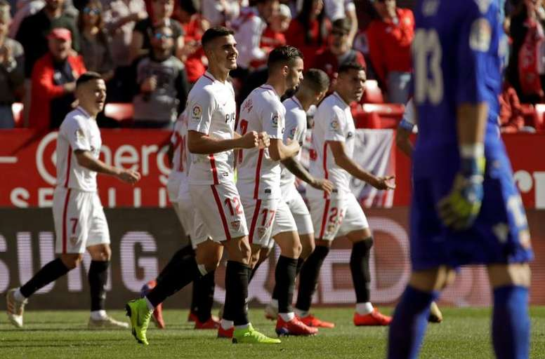El Sevilla solo ha ganado una vez en tierra transalpina. EFE