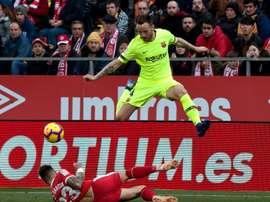 O Barcelona venceu mas não convenceu. EFE