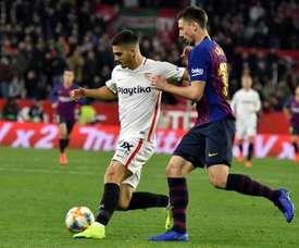André Silva já está de volta ao Milan após um ano emprestado ao Sevilla. EFE