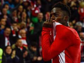 Iñaki Williams is in line to make his 200th Athletic appearance tonight. EFE/Archivo