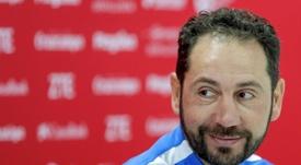 El entrenador del Sevilla, motivado ante la visita azulgrana. EFE