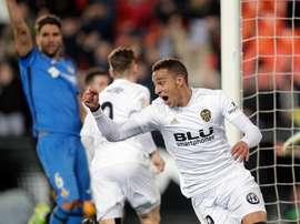 Rodrigo não esteve presente no treinamento do Valencia desta terça-feira. EFE