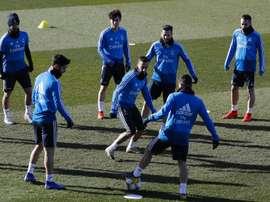 Le groupe du Real Madrid pour affronter Gérone en Coupe du Roi. EFE