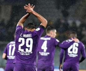 Luis Muriel is enjoying his time at Fiorentina. EFE