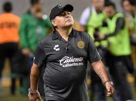 Maradona en estado puro. EFE