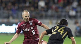 Andres Iniesta is one of the greatest stars of japanese football. EFE