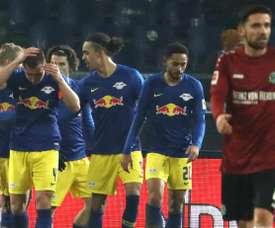 El Leipzig no tuvo rival en Hannover. EFE